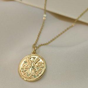 Collar medalla tipo moneda