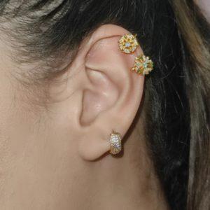 Ear Cuff  Flor Redonda