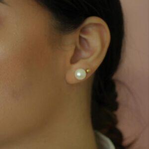 Aretes Topos de perlas cultivadas