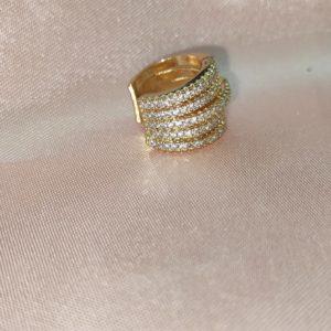 Ear Cuff con piedreria baño en oro