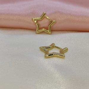 Argollas con forma de estrella