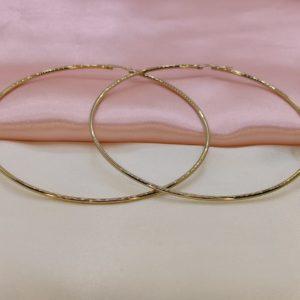 Argollas delgadas grandes 10 cm