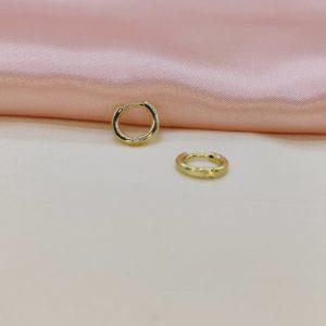 Argollas mini baño de oro 1 cm