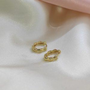 Argollas pequeñas 1.5 cm con diseño