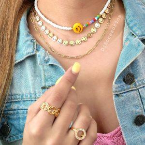 Collar cadena smile dorada