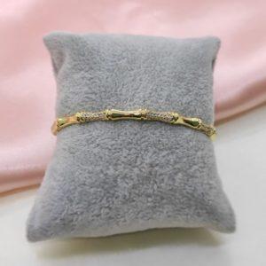 Brazalete con baño de oro Bambu