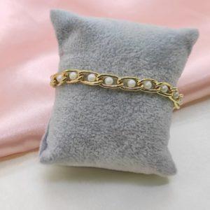 Pulsera cadena con perlas