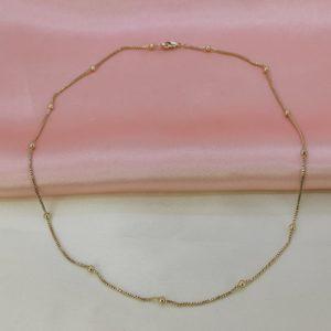 Collar cadena con círculos color gold rose
