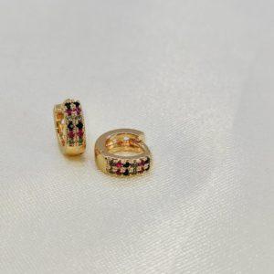 Argollas mini puntos de colores 1 cm