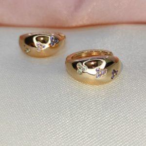 Argollas mini con brillo Rose gold 1.5 cm