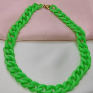 Oferta Especial Collar verde manzana