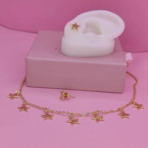 Set de collar y aretes de estrellas