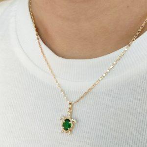 Set de collar y aretes verde