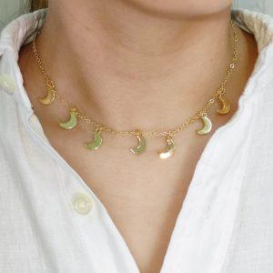 Set de collar y aretes de luna